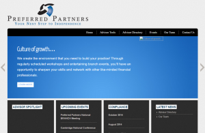 An old version of the Preferred Partners website before the Secondhand Legends redesign.